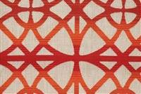1914912 ATHENIA SUNSET Lattice Linen Blend Fabric