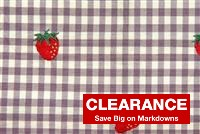 2720012 PLUMBERRY Check Fabric