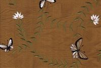 5746613 GET AROUND/GOLDEN Embroidered Silk Drapery Fabric