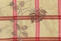 5747013 HUTCHINSON/SUNRISE Plaid Embroidered Silk Drapery Fabric