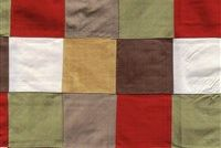 5759511 ALL SQUARE NAPA Check Quilted Silk Drapery Fabric