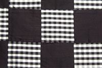 5762511 CHIPPER BLACK/WHITE Check Patterned Silk Drapery Fabric
