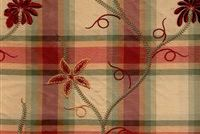 5765711 CLAUDIA / SUNSET AND VINE Plaid Embroidered Silk Drapery Fabric