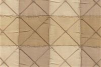 5769613 CALCAGNE / SUMMER SANDS Check Quilted Silk Fabric