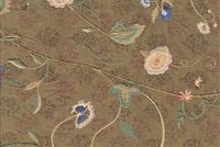 5769718 STERON/ALMOND TOAST Embroidered Silk Fabric