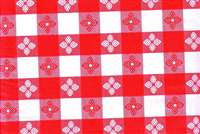 6014211 TAVERN CHECK RED Faux Leather Upholstery Vinyl Fabric