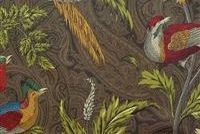 Braemore PHEASANT HUNT LEATHER Paisley Print Fabric
