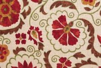 Trend 02097 HENNA Floral Linen Blend Upholstery Fabric
