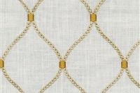 Williamsburg DEANE EMBROIDERY GILDED 700501 Lattice Embroidered Drapery Fabric