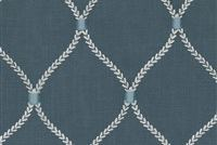Williamsburg DEANE EMBROIDERY SAPPHIRE 700504 Lattice Embroidered Drapery Fabric