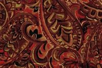 Trend 02126 CRANBERRY Paisley Linen Blend Fabric