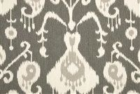 Magnolia Home Fashions JAVA PEWTER Ikat Print Upholstery And Drapery Fabric