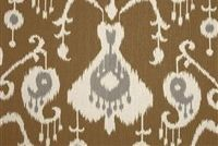 Magnolia Home Fashions JAVA UMBER Ikat Print Upholstery And Drapery Fabric