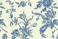 Williamsburg SPRING FLOWERS CORNFLOWER 750250 Floral Print Fabric