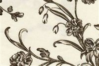 Williamsburg SPRING FLOWERS GRAPHITE 750253 Floral Print Fabric