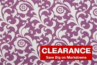 Waverly ANGELIQUE S PLUM 676632 Floral Print Upholstery And Drapery Fabric