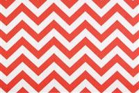 Premier Prints ZIG ZAG CORAL/WHITE Contemporary Print Upholstery And Drapery Fabric