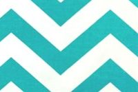 Premier Prints ZIG ZAG TRUE TURQUOISE Contemporary Print Upholstery And Drapery Fabric