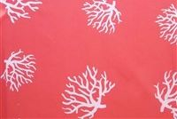 6138311 SERENE CORAL/WHITE Tropical Print Upholstery And Drapery Fabric