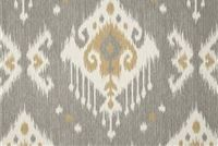 Magnolia Home Fashions DAKOTA GREY Ikat Print Fabric
