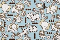6155211 NURSERY MIST/PUTTY Print Fabric