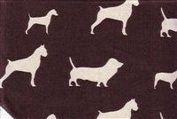 6155311 WUFF CHOCOLATE/NATURAL Print Upholstery And Drapery Fabric