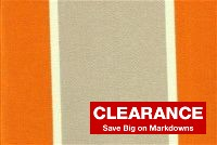 P Kaufmann ODL CABANA STR TANGERINE Stripe Indoor Outdoor Upholstery Fabric