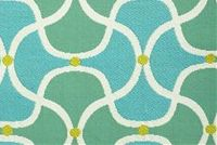 Bella-Dura SCALLOP TURQUOISE Lattice Indoor Outdoor Upholstery And Drapery Fabric