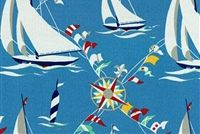 Waverly SNS SET SAIL ATLANTIC 677120 Nautical Indoor Outdoor Upholstery Fabric