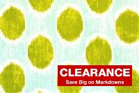 Braemore DOTS ARE HOT 003 GRASS Ikat Print Fabric