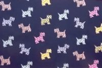 P Kaufmann HOTTIE SCOTTIE 001 INDIGO Print Upholstery And Drapery Fabric