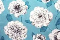 P Kaufmann BEGONIA 002 TURQUOISE Floral Print Fabric