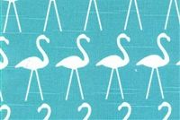 Premier Prints FLAMINGO COASTAL BLUE Tropical Print Fabric