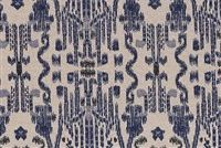 Lacefield Designs MUMBAI INDIAN BLUE Ikat Print Upholstery And Drapery Fabric