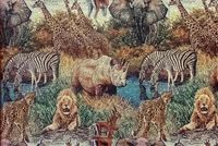 6249711 CALL OF THE WILD II NATURE Tapestry Upholstery Fabric