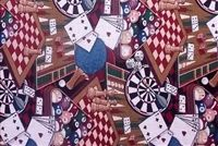 6249811 CASINO GAMES MULTI Tapestry Upholstery Fabric