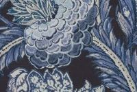 P/K Lifestyles BALINESE GARDEN/VER MIDNIGHT 408 Floral Linen Blend Upholstery And Drapery Fabric