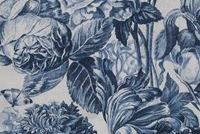 P/K Lifestyles FORESTRY TOILE INK 408150 Floral Linen Blend Fabric