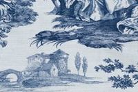 Waverly IDYLLIC DAYS SAPPHIRE 681880 Toile Print Upholstery And Drapery Fabric