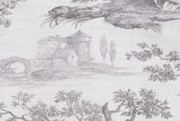 Waverly IDYLLIC DAYS PEWTER 681881 Toile Print Upholstery And Drapery Fabric