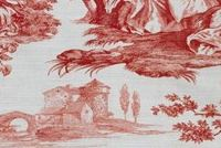 Waverly IDYLLIC DAYS AMARYLLIS 681882 Toile Print Upholstery And Drapery Fabric