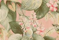 P/K Lifestyles HOSTAS MEADOW TEAROSE 408402 Floral Print Upholstery And Drapery Fabric