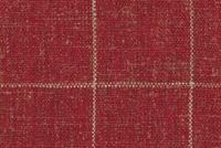 P/K Lifestyles CONCORD PANE POPPY 408502 Check Linen Blend Fabric