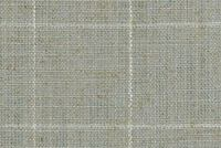 P/K Lifestyles CONCORD PANE MIST 408504 Check Linen Blend Upholstery Fabric
