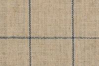 P/K Lifestyles CONCORD PANE VINTAGE BLUE 408505 Check Linen Blend Upholstery Fabric