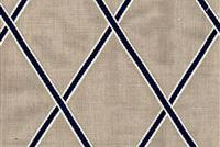6406311 DRAKE NAVY Embroidered Drapery Fabric