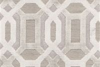 6406412 ANTWERP IVORY Lattice Cotton Blend Velvet Fabric