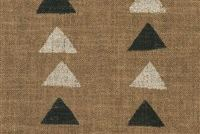 P/K Lifestyles NOMADIC TRIANGLE CLAY 408451 Geometric Linen Blend Upholstery And Drapery Fabric