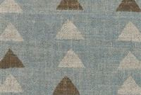 P/K Lifestyles NOMADIC TRIANGLE SEAGLASS 408453 Geometric Linen Blend Fabric