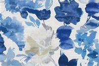 Waverly AQUA FLEUR SKY 681821 Floral Print Upholstery And Drapery Fabric